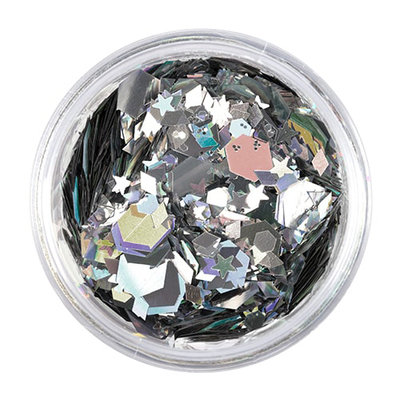 The Gypsy Shrine Face; Hair and Body Glitter - Chunky Silver Mix