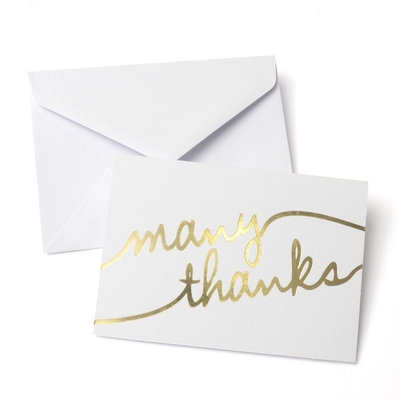 Thank You - Foil Many Thanks 50 Ct