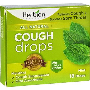 Herbion Naturals Cough Drops - All Natural - Mint - 18 Drops