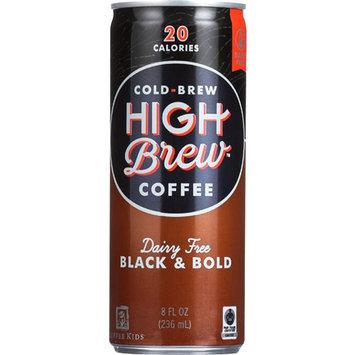 High Brew Coffee, Black & Bold, Dairy Free, 8 oz