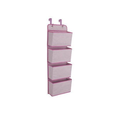 Delta 4-Pocket Pink Over the Door Organizer Kid's