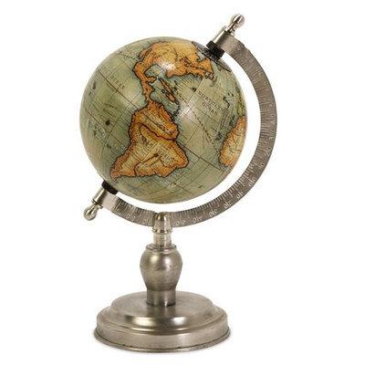 IMAX 73026 Colombo Small Globe With Nickel Finish Base