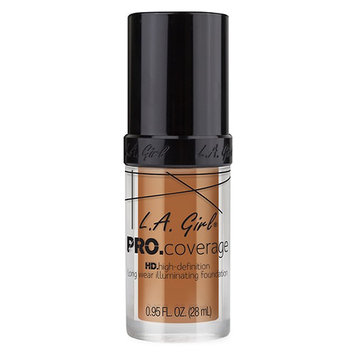 L.A. Girl PRO. Coverage HD Long Wear Illuminating Liquid Foundation - Warm Caramel