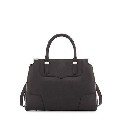 Amorous Saffiano Satchel Bag, Black