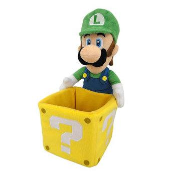 San-ei Super Mario Bros 9 Inch Plush: Luigi with Coin Box