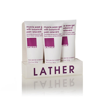 LATHER muscle ease travel trio (set)