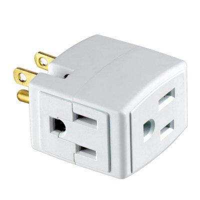 Leviton 3-Outlet Cube Converter R54-00692-00W