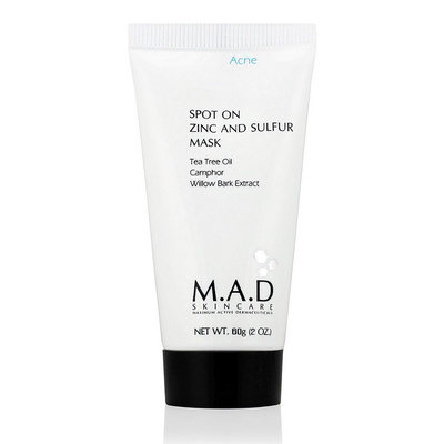 Mad Skincare M.A.D SKINCARE SPOT ON ZINC AND SULFUR MASK (60 g / 2.0 oz)