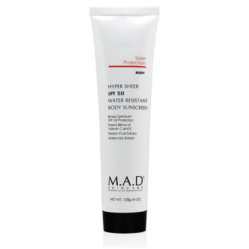 Mad Skincare M.A.D SKINCARE HYPER SHEER SPF 50 WATER RESISTANT BODY SUNSCREEN (120 g / 4.0 oz)
