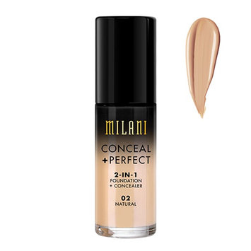 Milani Conceal And Perfect 2 In 1 Foundation And Concealer - Natural