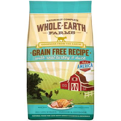 Whole Earth Farms Grain Free Real Turkey & Duck Cat Food, 2.5 lbs.