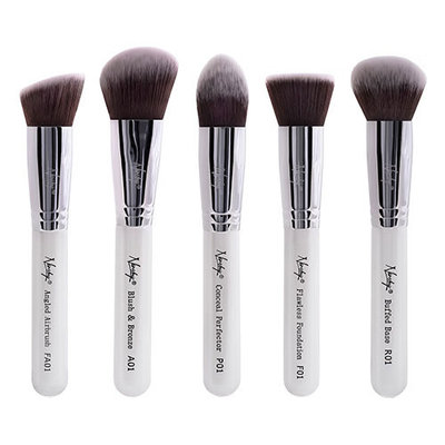 Nanshy Gobsmack Glamorous 5 Piece Brush Collection - Pearlescent White