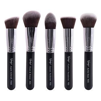 Nanshy Gobsmack Glamorous 5 Piece Brush Collection - Onyx Black