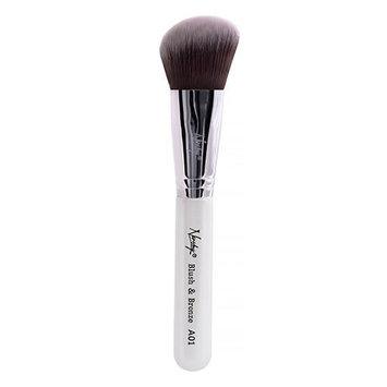 Nanshy A01 Blush & Bronze Angled Brush Pearlescent White