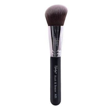 Nanshy A02 Blush & Bronze Angled Brush Onyx Black