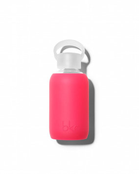 Glass Water Bottle, Bisous, 250 mL - bkr