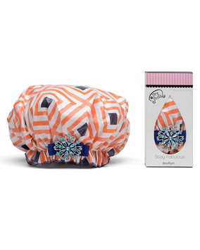 Dry Divas Shower Cap with Vintage Brooch, Passion 4 Fashion