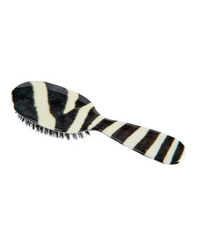 Rock & Ruddle Small Zebra-Print Mixed Bristle Hairbrush