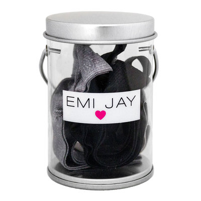 Emi-jay Black Ombre Hair Ties in Paint Tin