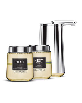 Simple Human Foam Cartridge Sensor Pump Gift Set, Featuring NEST Fragrances