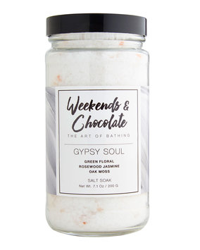 Weekends And Chocolate Bath Salts - Gypsy Soul, 7 oz./ 200 g
