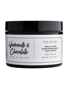 Weekends And Chocolate Body Scrub - Tea Blush, 8.0 oz./ 227 mL