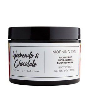 Weekends And Chocolate Body Scrub - Morning Zen, 8.0 oz./ 227 g
