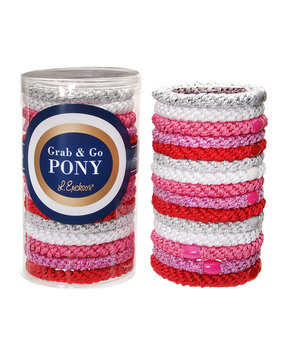L. Erickson Ponytail Holders - Pink (Set of 15)
