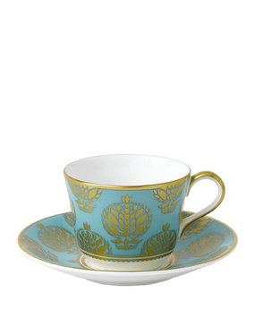 Royal Crown Derby Bristol Belle Turquoise Teacup