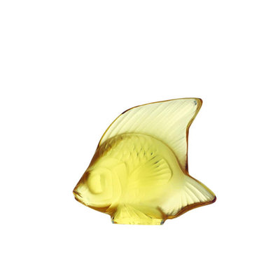 Lalique Crystal Fish Gold 30029