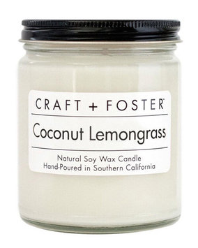 Craft + Foster Coconut Lemongrass Candle, 8 oz.