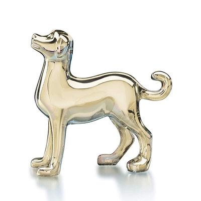 Baccarat Zodiac Dog Figurine, Gold