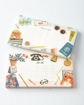 Rifle Paper Co. Desktop and Bon Voyage Notepads, Set of 2