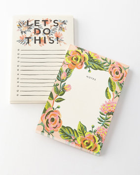 Rifle Paper Co. Lets Do This and Jardin Notepads