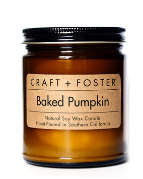 Craft + Foster Limited Edition Baked Pumpkin Candle, 8.0 oz./ 220g
