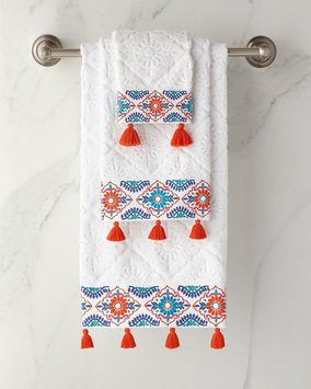 John Robshaw Aloka Hand Towel, Size One Size - Coral