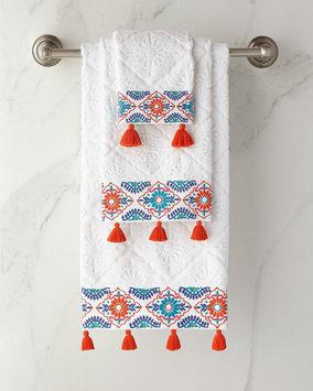 John Robshaw Aloka Wash Cloth, Size One Size - Coral
