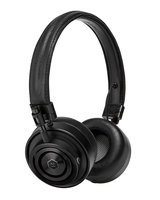 Master & Dynamic MH30 Foldable On Ear Headphones - Black Metal / Black Leather