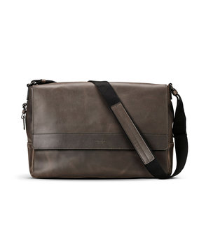 Men's Shinola Leather E/w Messenger Bag - Brown