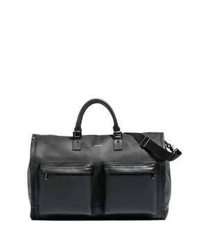 Men's Hook + Albert Leather Garment Bag - Black