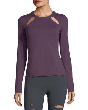 Women's Alo Mantra Keyhole Top, Size Small - Purple