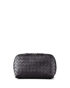 Woven Leather Cosmetic Case, Medium Bottega Veneta