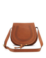 Marcie Horseshoe Crossbody Satchel Bag, Tan - Chloe