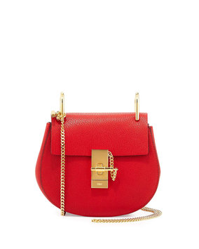 Drew Mini Chain Shoulder Bag, Red - Chloe
