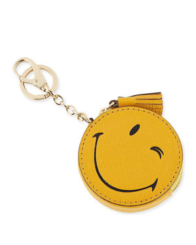 Wink Goatskin Coin Purse, Yellow - Anya Hindmarch