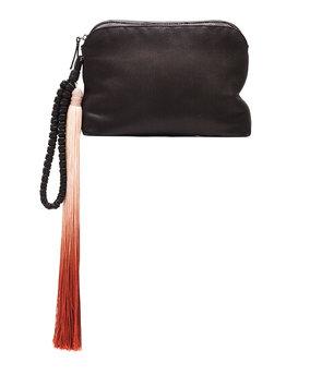 Satin Tassel Detail Wristlet, Black/Multi - THE ROW