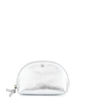Tory Burch Metallic Mini Domed Cosmetic Bag