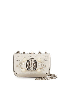 Christian Louboutin Sweet Charity Mixed-Stud Leather Crossbody Bag