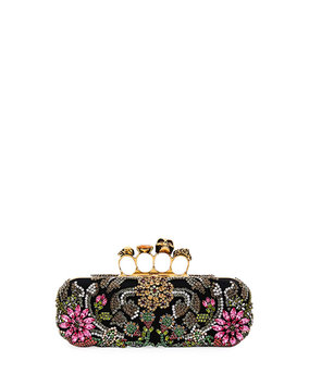 Puma Medieval Knuckle Box Clutch Bag, Black