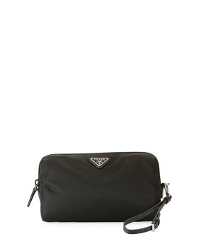Prada Vela Medium Triangle Cosmetics Bag